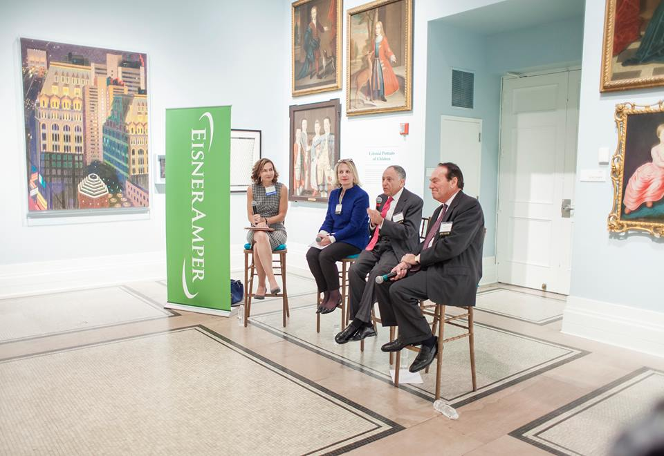 Managing Director Elizabeth von Habsburg (second from left) speaks about art as an asset class at the EisnerAmper Private Wealth and Family Office Summit.