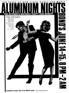 The Kitchen's benefit poster featuring the Robert Longo drawings